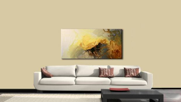 Abstract Painting Modern Living Room Decor Soft