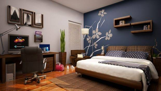 Accent Wall Painting Color Ideas Skylight Blue Mural