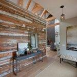 Accent Wall Salvaged Wood Living Room Picturesque Home