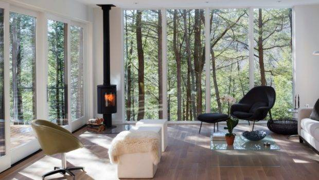 Add Cozy Yet Modern Corner Fireplace Your Scandinavian Home