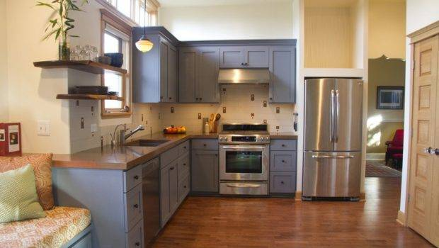 Adding Color Your Boring Kitchen Ideas Gray