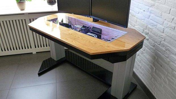 Adjustable Custom Computer Desk Mod Fit True Geek