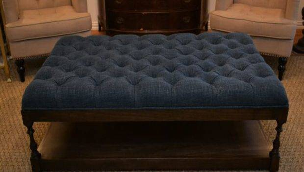 Affordable Fabric Ottoman Coffee Table