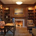 After Library Home Office Beautiful Decor Idea
