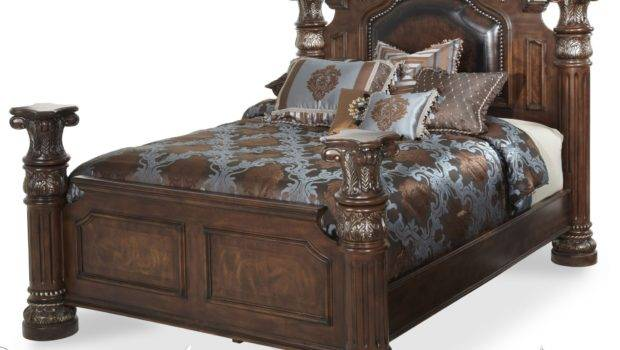 Aico Monte Carlo Cafe Noir King High Low Poster Bed