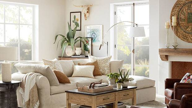 Air Sectional Natural Living Room Pottery Barn