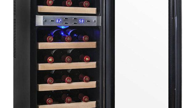Akdy Bottle Dual Zone Thermoelectric Freestanding Wine