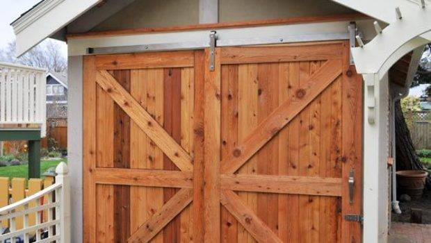 Alluring Shed Door Designs Best Hardware
