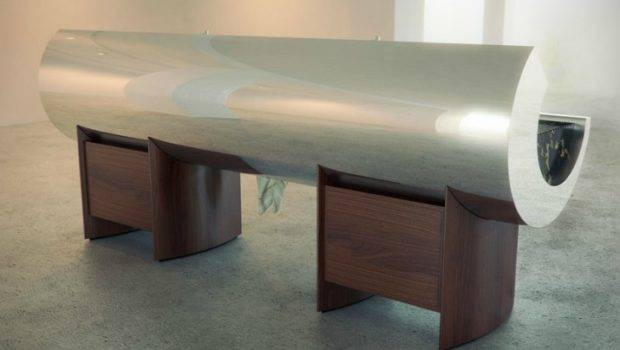 Amazing Innovative Kitchens Curvaceous Countertops Kitchen
