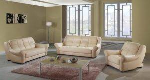 American Style Leather Sofa Couch New Design Living Room