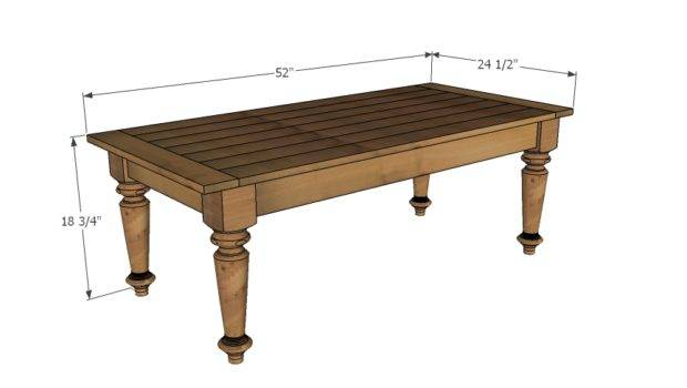 Ana White Turned Leg Coffee Table Diy Projects