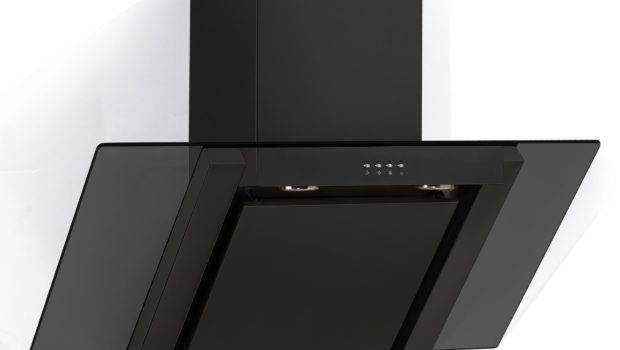 Ang Extractor Fan Angled Glass Chimney Cooker Hood Black