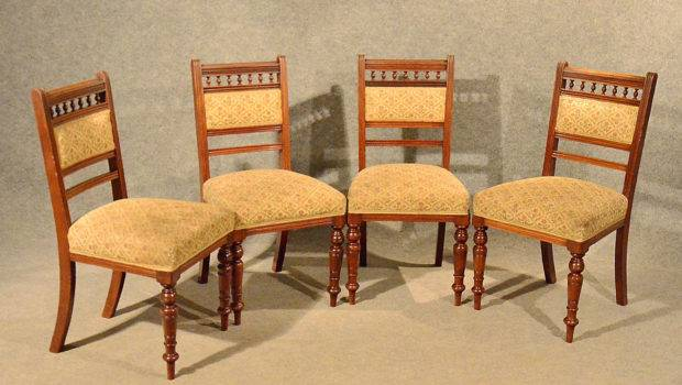 Antique Dining Kitchen Chairs Comfy Sprung Seats