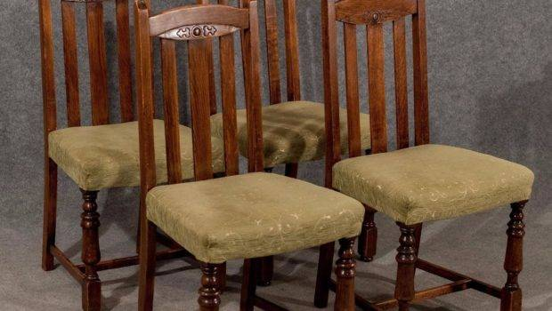 Antique Dining Kitchen Chairs Comfy Upholstered