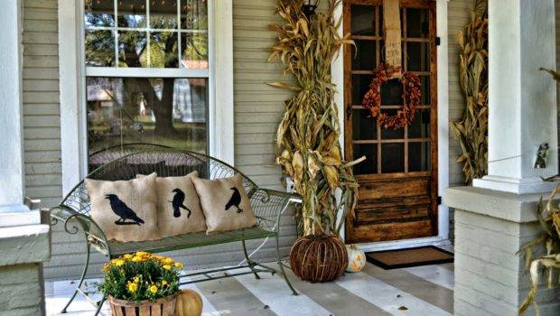 Antique Homes Lifestyle Fall Porch Decorating Ideas