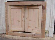 Antique Pine Alcove Cupboard Doors Their Original Frame