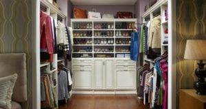 Antique White Walk Closet Solid Wood Organizers