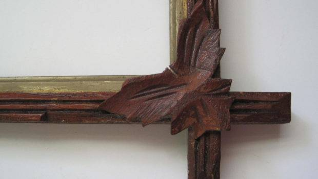 Antique Wood Frame Carved Corner Leaves Sharethelovevintage