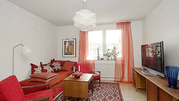 Apartment Decorating Comes Red Theme Inspiring Ideas