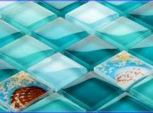 Aqua Glass Wall Tile Dark
