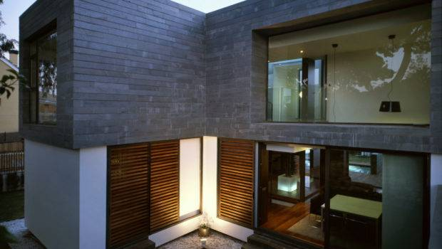 Architecture Exterior Elegant Small Modern House Designs Grey