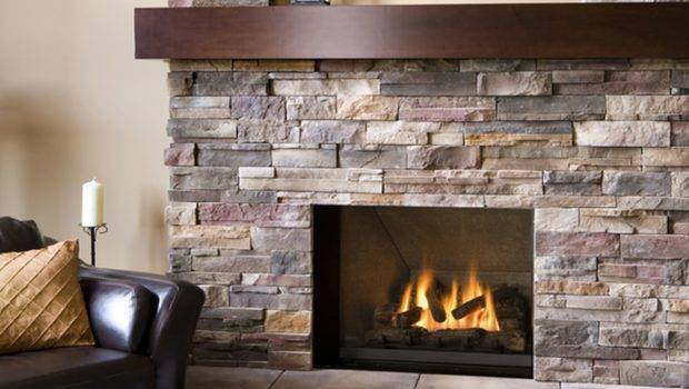 Architecture Fireplace Stone Wooden Mantle Shelf Also Tile Floor