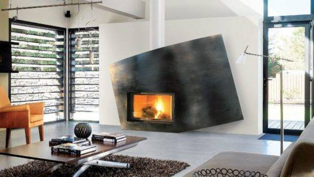 Asymmetrical Design Fireplace Home Decorating Trends