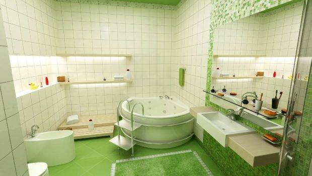 Attractive Green Kids Bathroom Ideas Decorating Dream