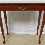 Attractive Small Narrow Side Table Raised Four Shaped Queen Anne