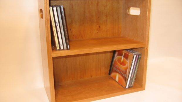 Attractive White Lacquer Finish Chery Wood Dvd Rack