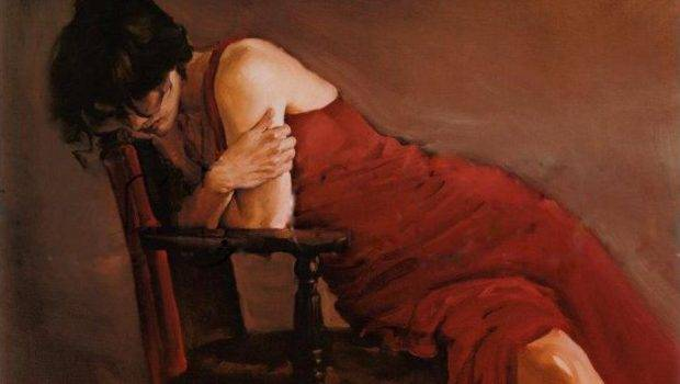 Austin Red Dress Painting Offer Handmade Reproduction