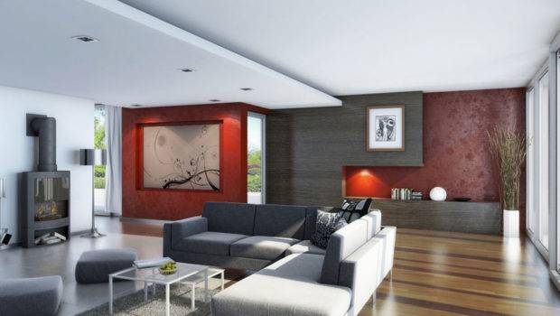 Awesome Living Room Wood Flooring Red Decor Interior
