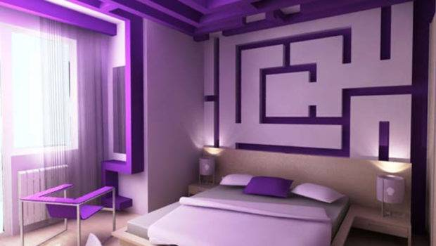 Awesome Purple Wall Decor Bedrooms Room Decorating Ideas Home