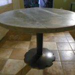 Awesome Zinc Top Dining Table Round