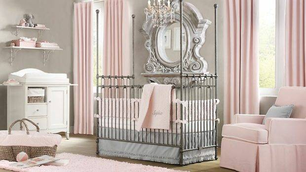 Baby Nursery Room Design Ideas Elegant Pink White Gray Girl