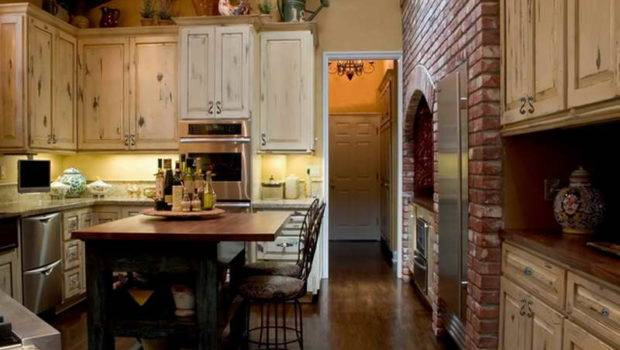 Back Rustic Italian Kitchen Design