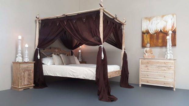 Balinese Four Poster Bed Canopy Curtain Mosquito