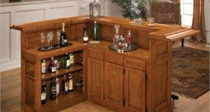 Bar Includes Wrap Around Upper Counter Well Behind