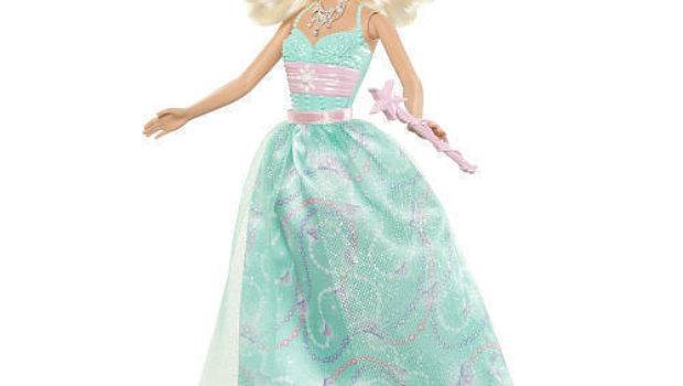 Barbie Modern Princess Party Doll Blonde Teal Dress