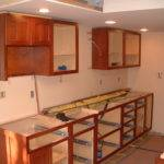 Base Upper Cabinets Have Been Installed Sink Wall