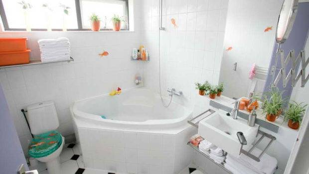 Bathroom Cute White Small Storage Solutions