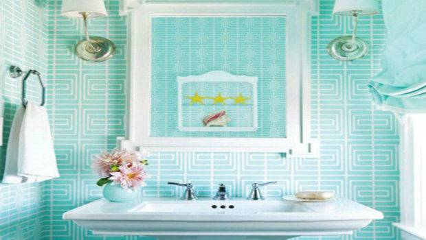 Bathroom Design Cute Turquoise Awesome Colorful