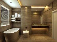 Bathroom Design Tub Floor Tile Toilet European Style