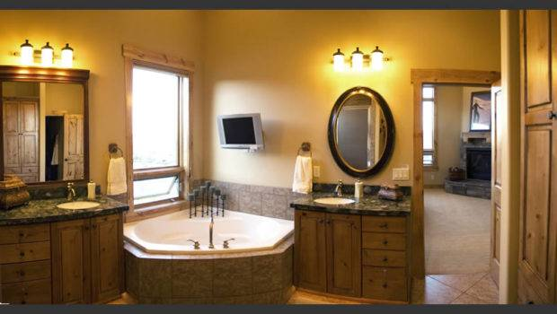 Bathroom Designs Wall Mirror Woodden Cabinets Lights