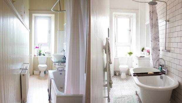 Bathroom Makeover Before After Kate Vie