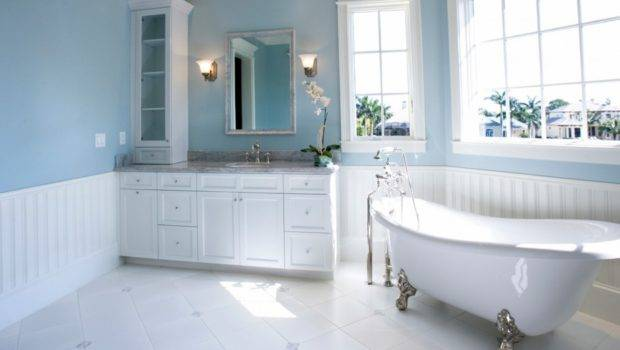 Bathroom Paint Colors Ideas Soft Blue Painting