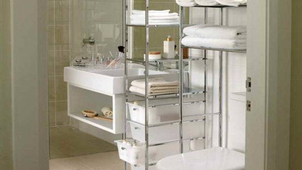 Bathroom Rack Shelving Small Storage Solutions