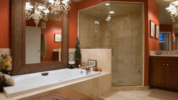 Bathroom Red Paint Color Small Design Ideas
