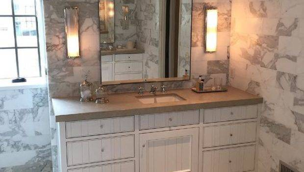 Bathroom Statuary Marble Tiles Transitional