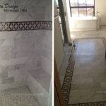 Bathroom Tiles Cement Floor Border Mosaic